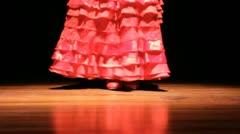 Dark Flamenco dancing  Stock Footage
