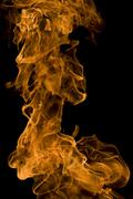 Fire and flames on a black background Stock Photos
