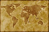 Stock Photo of old worldmap