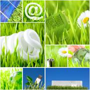 Environment and green energy concept Stock Photos