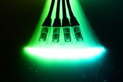 Fiber optics background with lots of light spots Stock Photos