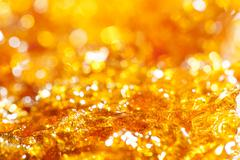 Caramel gold glitter Stock Photos