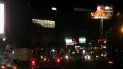 Taxi Nightdrive in Denpasar Bali-Indonesia 1/2 Stock Footage