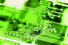 abstract circuit board - stock photo