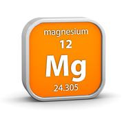 magnesium material sign - stock photo