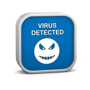 Virus detected sign Stock Photos