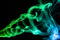 color smoke - stock photo
