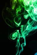 Abstract wave smoke Stock Photos