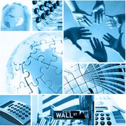 Business and global communication concept Stock Photos