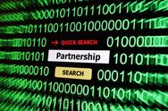 Search for partnership Stock Illustration