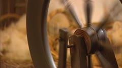Spinning wheel tilt down treadle. Stock Footage