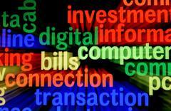 bills connection transaction - stock illustration