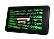 Tablet pc networking Stock Illustration
