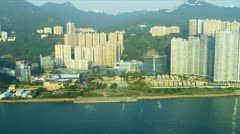 Aerial View of Lower Hong Kong Island  Stock Footage