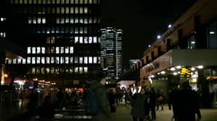 Euston Rail Station Entrance. London, January 2013. Stock Footage