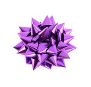 Purple gift bow isolated on white Stock Photos