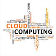 Word cloud - cloud computing Stock Illustration