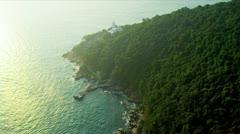 Aerial View Coastal Islands nr Hong Kong Stock Footage
