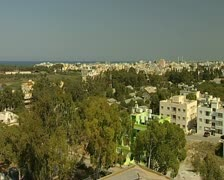 Famagusta northern Cyprus - High wide pan city 16:9 PAL Stock Footage