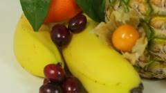 Fresh fruits Stock Footage
