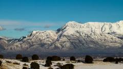 Utah Mountains Sunset Timelapse - 4k Resolution Stock Footage