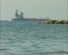 Cargo ship, water transport ship Ocean tankers Stock Footage