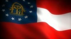Flag of Georgia Stock Footage