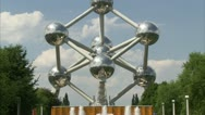 Brussels Atomium zoom-out.(Editorial Only) Stock Footage
