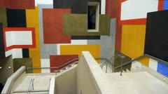 Tate Britain Staircase. London, January 2013. - stock footage