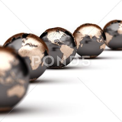 Stock photo of world globes