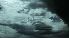 Raging Storm Clouds Forming Stock Footage