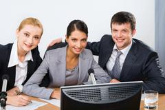 Group of colleagues - stock photo