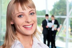Successful woman - stock photo
