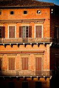 siena historic architecture - stock photo