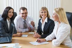Informal meeting - stock photo