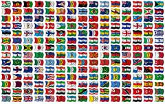 World flags set Stock Illustration