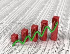 Stock graph Stock Illustration