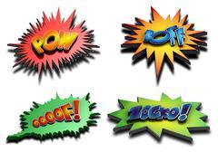 Super hero fight Stock Illustration