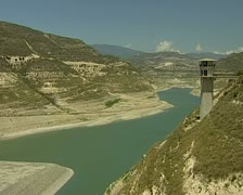 Drought in Cyprus - Kouris dam @ 2.5% capacity 16:9 PAL Stock Footage