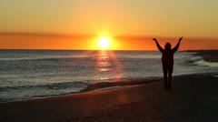 Praise At Sunset Stock Footage