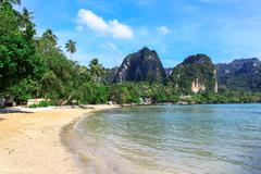 Tropical dream beach,railay beach in krabi thailand Stock Photos