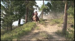 Dusty Hill Ride Stock Footage