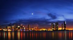 miami at night - stock photo