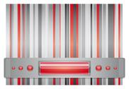 Stock Illustration of gray - red background.