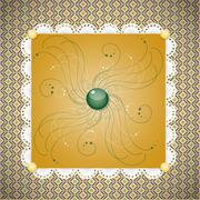 Retro background with pattern. Stock Illustration