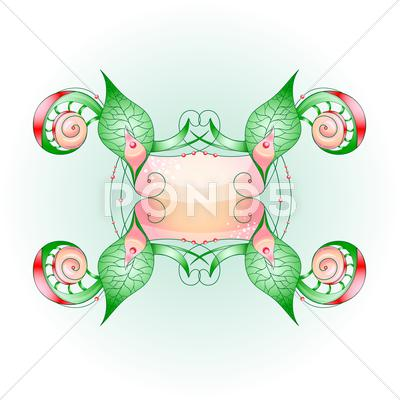 Stock Illustration of abstract shape with frame.