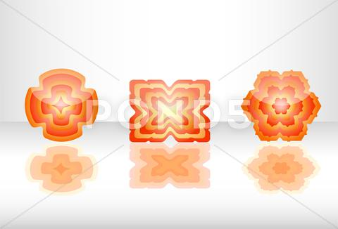 Stock Illustration of abstract flower and shapes