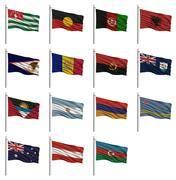 National flags a Stock Illustration