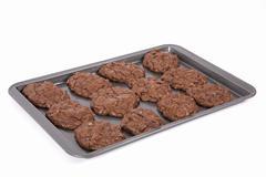 Triple chocolate cookies Stock Photos