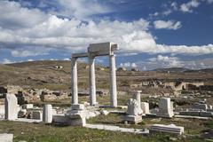 Delos ruins Stock Photos